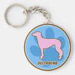 Trendy Greyhound Key Chain