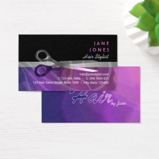 Trendy Hair Stylists business Business Card