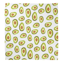 Trendy hand painted avocados watercolor pattern bandana