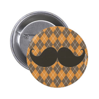 Trendy Handlebar Mustache Gift for Dad Pin