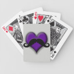Trendy Handlebar Mustache Moustache Stache Bicycle Playing Cards