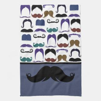 Trendy Handlebar Mustache Moustache Stache Kitchen Towel