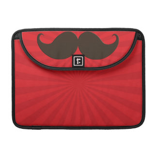 Trendy Handlebar Mustache Moustache Stache MacBook Pro Sleeve