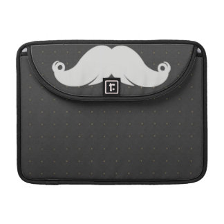 Trendy Handlebar Mustache Moustache Stache MacBook Pro Sleeve