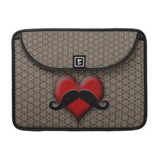 Trendy Handlebar Mustache Moustache Stache Sleeves For MacBook Pro