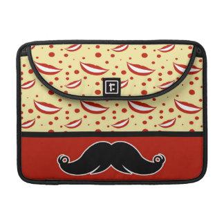 Trendy Handlebar Mustache Moustache Stache MacBook Pro Sleeves