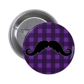 Trendy Handlebar Mustache Moustache Stache Pinback Button