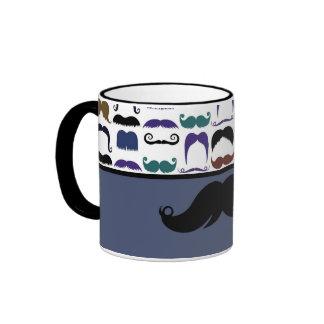 Trendy Handlebar Mustache Moustache Stache Ringer Mug