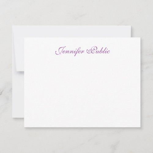 Trendy Handwritten Script Name Simple Template