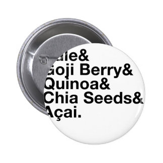 Trendy Health Food 2 Inch Round Button