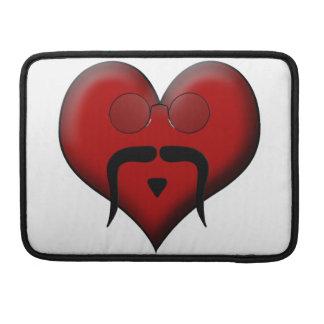 Trendy Heart Mustache Moustache Stache Sleeve For MacBooks