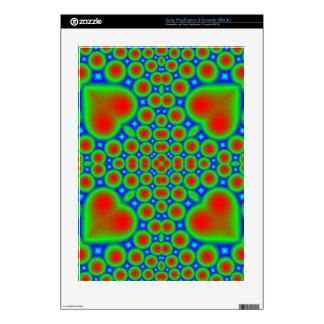 Trendy hearth and circle pattern decal for the PS3