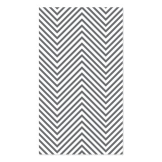 Trendy & Hip Gray/White Chevron Pattern Business Card Templates