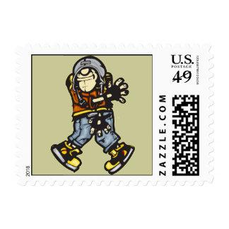 Trendy Hip Hop Dancer Stamp