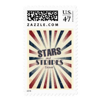 Trendy Hipster Patriotic Postage Stamp