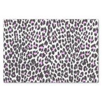 Trendy hipster pink black animal print pattern tissue paper