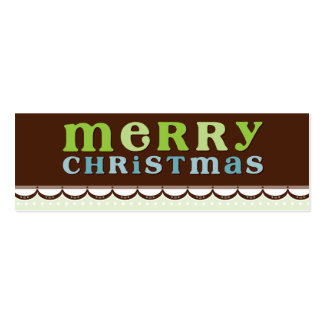 TRENDY HOLIDAY GIFT TAG :: candyfloss 3 Mini Business Card