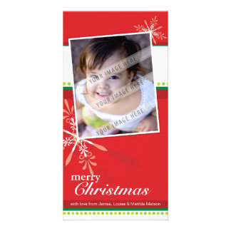 TRENDY HOLIDAY PHOTOCARD :: brightlyflaked 5P Card
