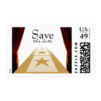 Trendy Hollywood Style Save The Date Postage