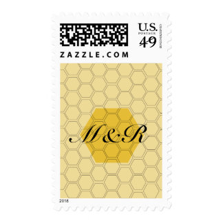 Trendy Honeycomb Initials Customized Stamps