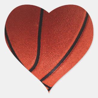 Trendy Hot Basketball Heart Sticker