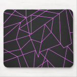 Trendy Hot Pink Abstract shattered art Mouse Pad