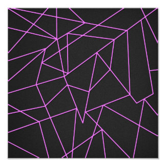Trendy Hot Pink Abstract shattered art Photo Art