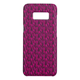 Trendy Hot Pink and Black Zebra Pattern Case-Mate Samsung Galaxy S8 Case