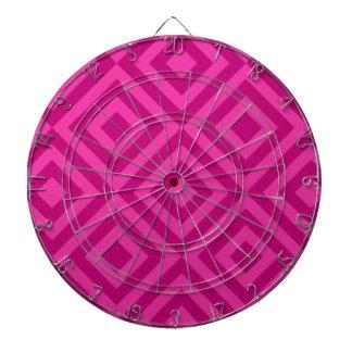 Trendy Hot Pink Diamond Pattern Dartboard