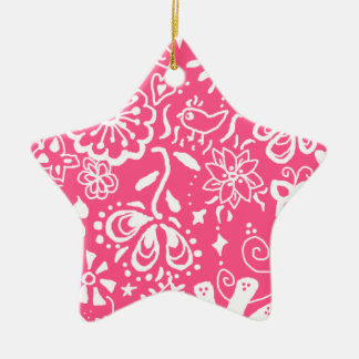 Trendy Hot Pink Star Ornament Decoration