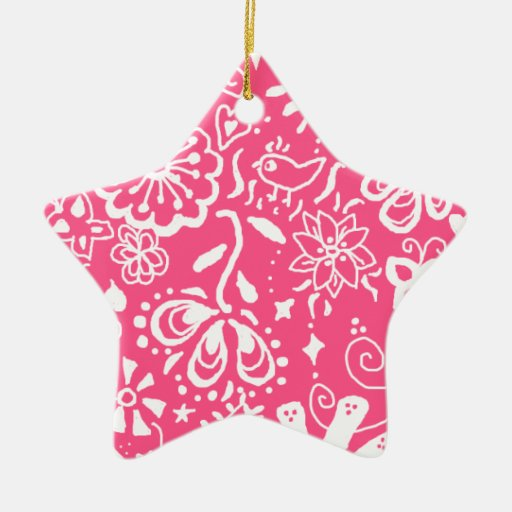 Trendy Hot Pink Star Ornament Decoration