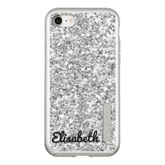 Trendy Hot silver printed glitter personalized Incipio DualPro Shine iPhone 8/7 Case