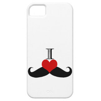 Trendy I love Moustaches iPhone Case
