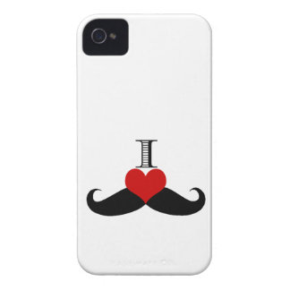 Trendy I love Mustaches iPhone Case