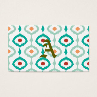trendy,ikat,ogee,sommer colours,pattern,girly,chic business card