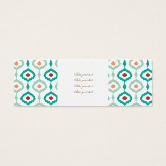 trendy,ikat,ogee,sommer colours,pattern,girly,chic mini business card
