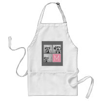 Trendy Instagram Photo Collage Custom Monogram Adult Apron