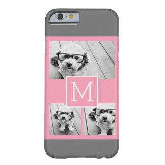 Trendy Instagram Photo Collage Custom Monogram Barely There iPhone 6 Case