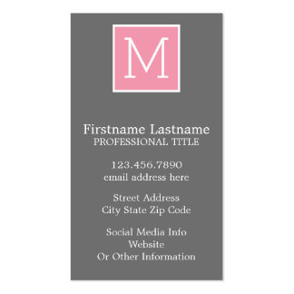 Trendy Instagram Photo Collage Custom Monogram Double-Sided Standard Business Cards (Pack Of 100)