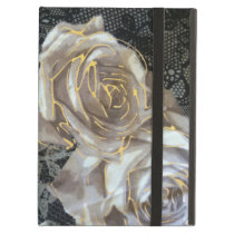 trendy iPad grey and gold cover