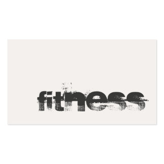 Trendy Ivory Grey Fitness Sport Professional Double-Sided Standard Business Cards (Pack Of 100)