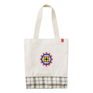 Trendy kaleidoscope pattern zazzle HEART tote bag