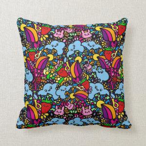 Trendy Kawaii Pattern Throw Pillow