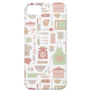 Trendy Kitchen Cooking Utensils Pattern iPhone SE/5/5s Case