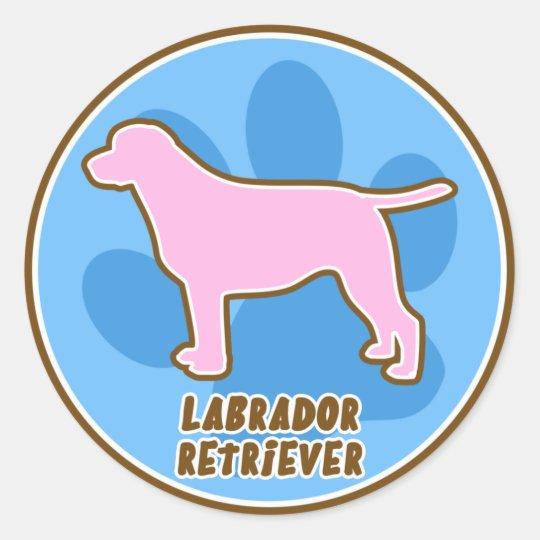 Trendy Labrador Retriever Classic Round Sticker