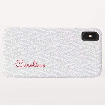 Trendy Ladies Monogram Pattern iPhone XS Max Case
