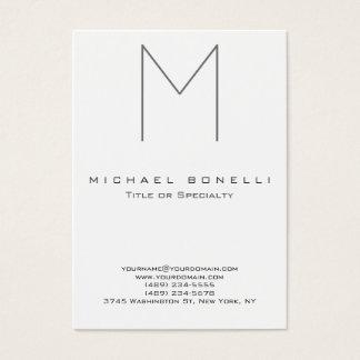 Trendy Large Monogram Standard Business Card