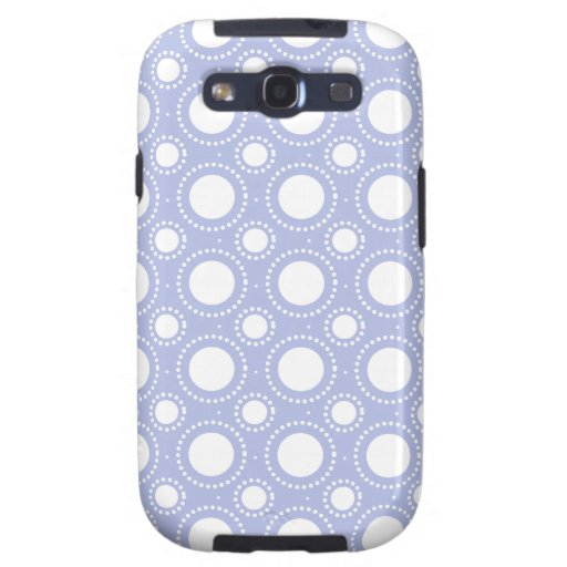Trendy Lavender Polka Dots Pattern Samsung Galaxy S3 Case