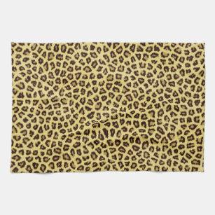 Trendy Leopard Cheetah Print Hand Towel