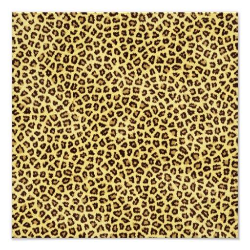 Trendy Leopard Cheetah Print Art Photo
